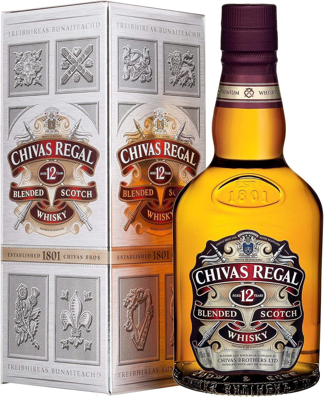 Chivas Regal 12 años Whisky Escocés de Mezcla - 500 ml: Amazon.es: Alimentación y bebidas