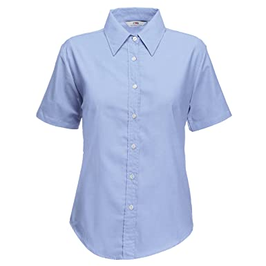 a34d2c568 Girls School Blouse Shirt Short Sleeve White Sky Blue Ages 3-18 Years:  Amazon.co.uk: Clothing