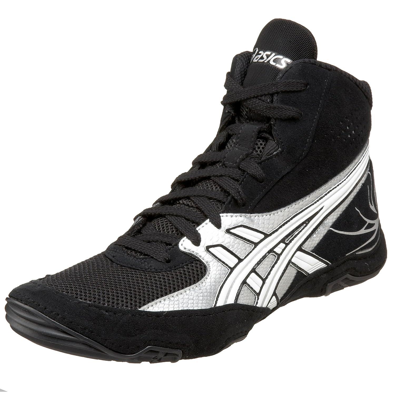ASICS Men's Cael V4.0 Wrestling Shoe B0028AR544 15 D(M) US Black/Silver/White