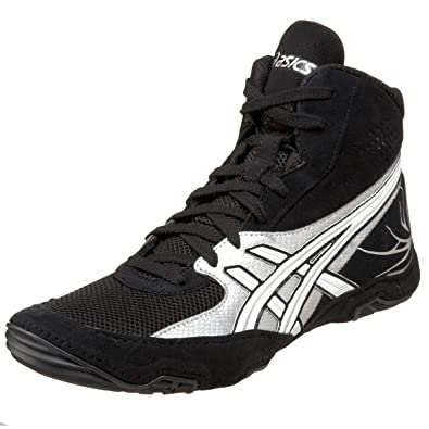 asics cael v4.0 wrestling shoes - yellow/white/black
