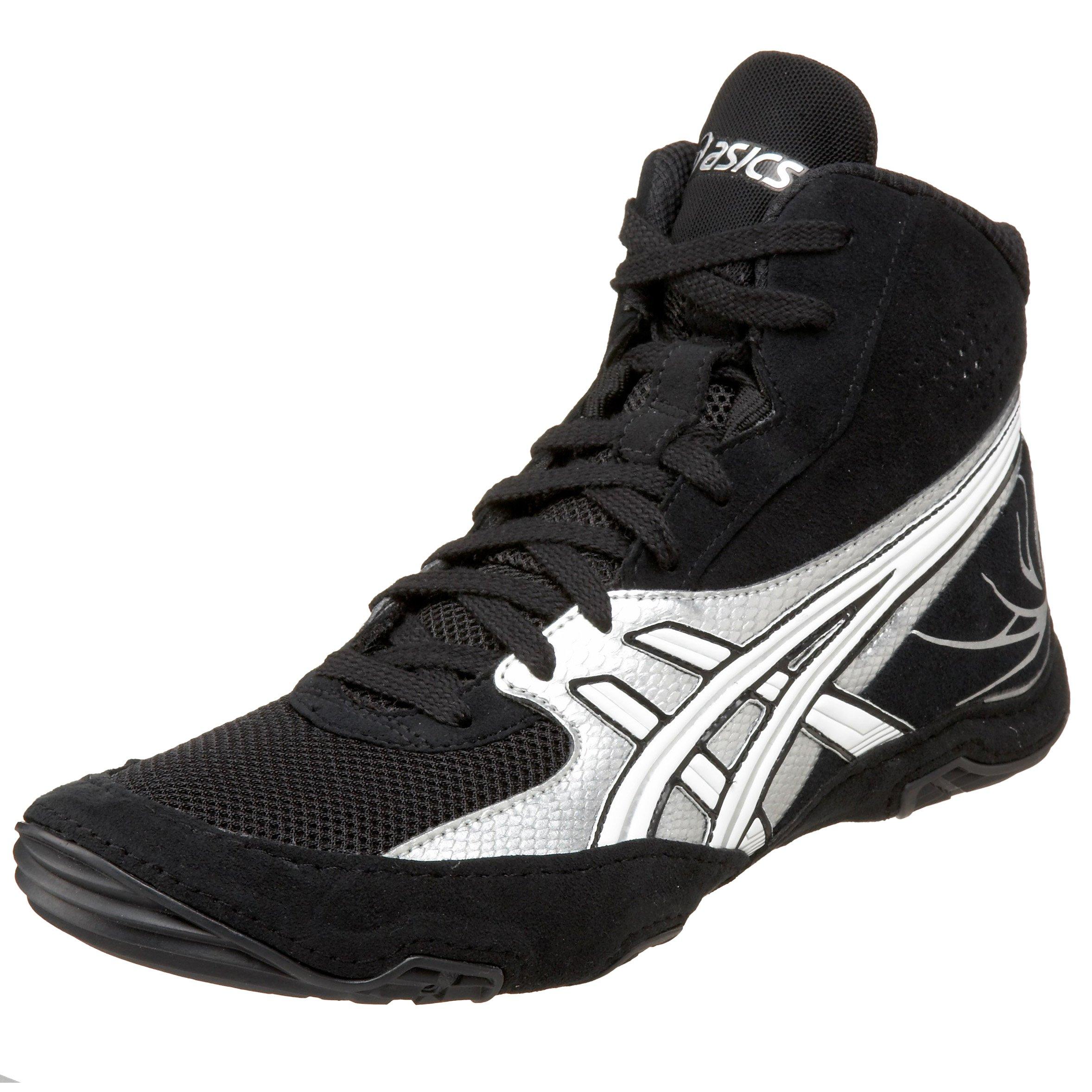 ASICS Men's Cael Wrestling Shoe,Black/Silver/White,11.5 D US by ASICS