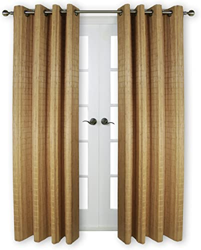 Versailles Home Fashions BPU144884-9 Bamboo Wood Curtain Panel