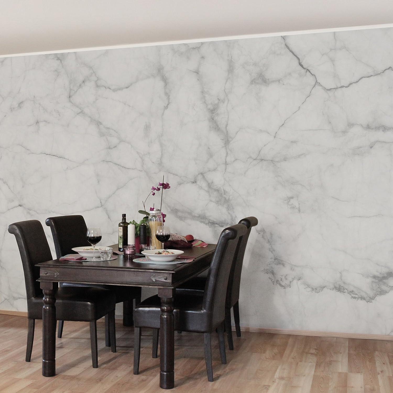 Vliestapete Bianco Carrara, HxB  290cm x 432cm B071Z8Q6HG Wandtattoos Wandtattoos Wandtattoos & Wandbilder e83cef
