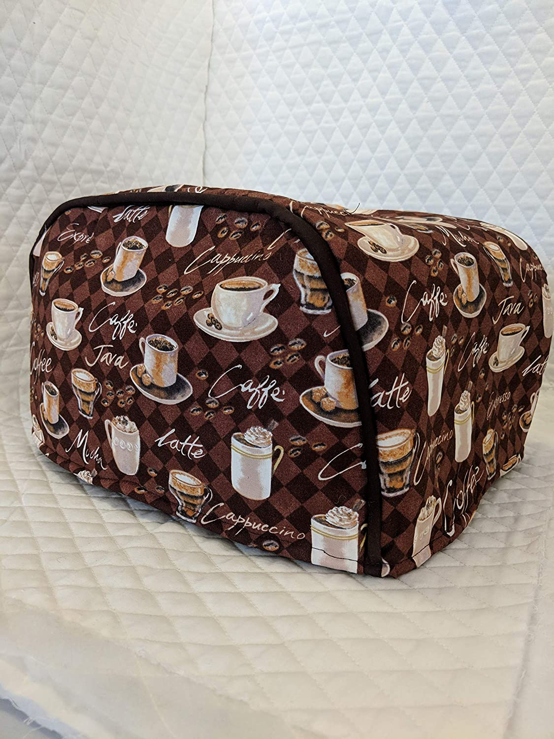 Simple Home Inspirations Cotton Toaster Cover - Cafe (4 Slice Long Slot)