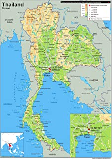 Thailand Political Map Paper Laminated A1 Size 59 4 X 84 1 Cm