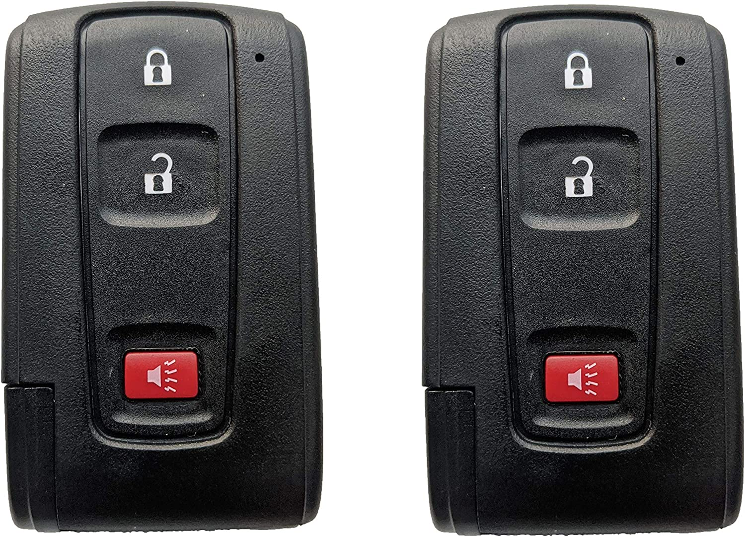Remote Key Fob Shell Case With Blank Key fit Toyota Prius 2004 2005 2006 2007 2008 2009 2 Pack