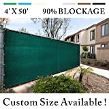 Royal Shade 5' x 50' Green Fence Privacy Screen Cover Windscreen, with Heavy Duty Brass Grommets, Custom Make Size