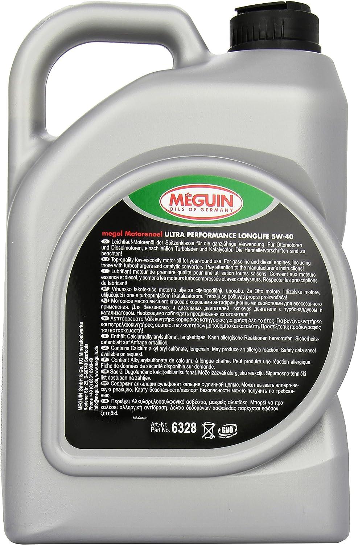Meguin 6328 Megol Ultra Performance Sae 5 W 40 5 L Auto