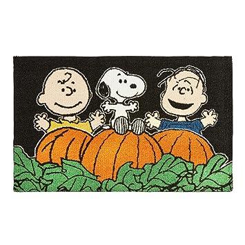 Nourison Peanuts Snoopy Charlie Brown Linus Pumpkin Patch Halloween Indoor  Accent Area Rug, 20