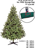 NEW COLORADO GREEN ARTIFICIAL CHRISTMAS TREE ((6FT - CT03237))