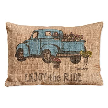 Country house collection primitive burlap jute 12 x 8 throw pillow enjoy the