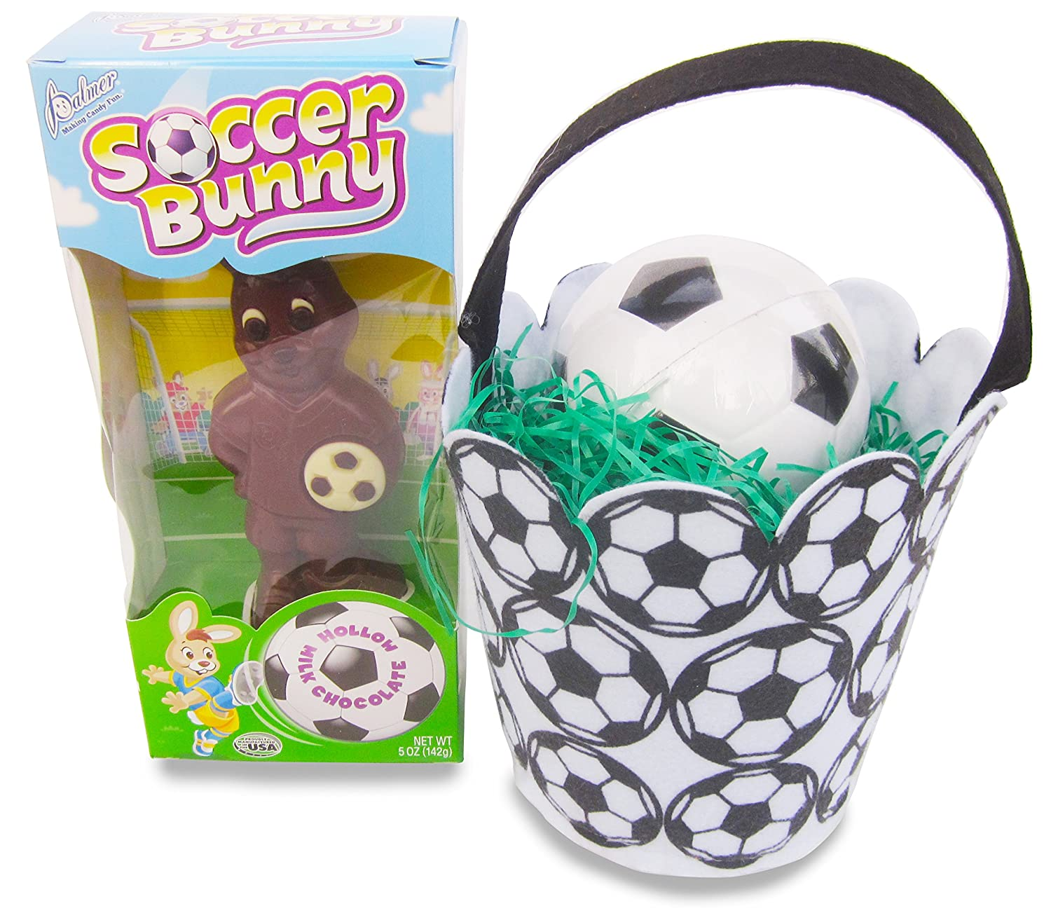 Amazon.com   Soccer Themed Easter Basket with 6