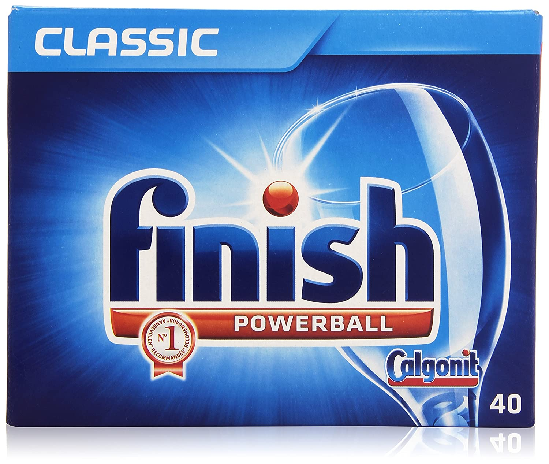 Finish Classic - Powerball - Pastillas con acción ablandadora - 40 ...