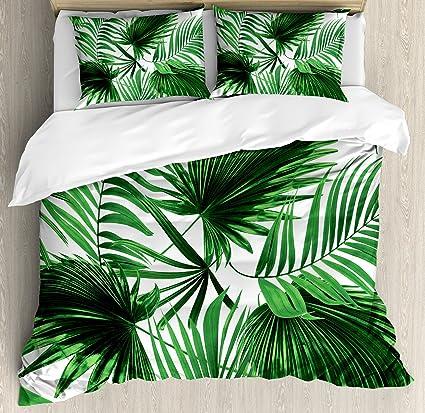 Excellent Amazon.com: Ambesonne Palm Leaf Duvet Cover Set King Size  RN89