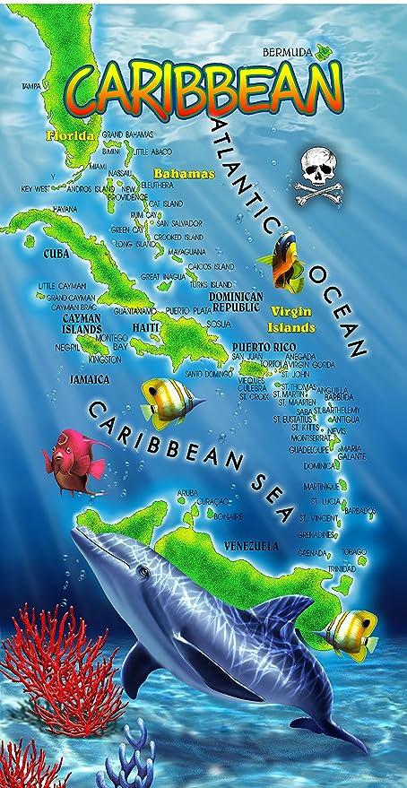 Toalla de delfín océano delfines Wonder planeta toalla de playa (6831