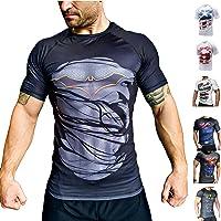 Khroom Camiseta de Compresión de Superhéroe para Hombre | Ropa Deportiva de Secado Rápido para Ejercicio, Gimnasio…
