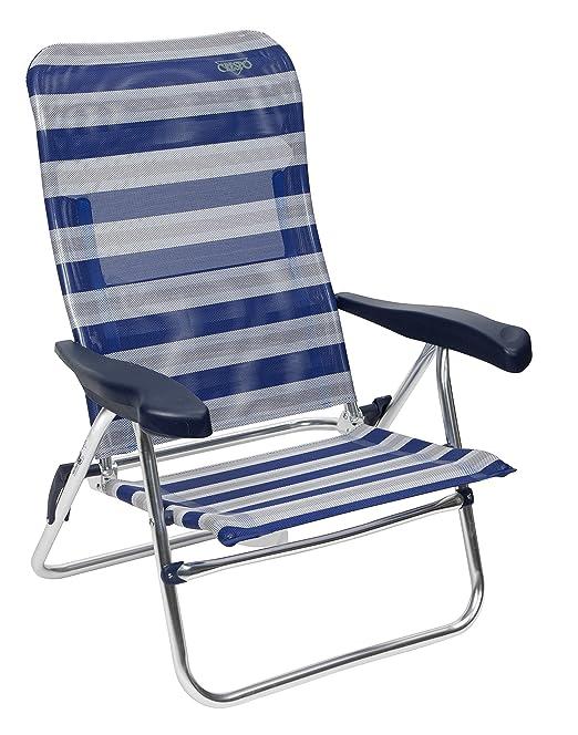 Crespo AL/205-M-17 - Silla Playa Dural. Desmontable. (Multifibra), Color Azul