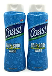 Coast Hair and Body Wash, Classic Scent, 2- 18 Fl Oz Bottles