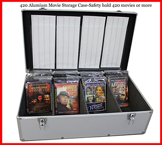 Amazon.com New Aluminum 840 Discs Movie Storage case For DVD Blu-Ray with Sleeves Silver Home u0026 Kitchen & Amazon.com: New Aluminum 840 Discs Movie Storage case For DVD Blu ...