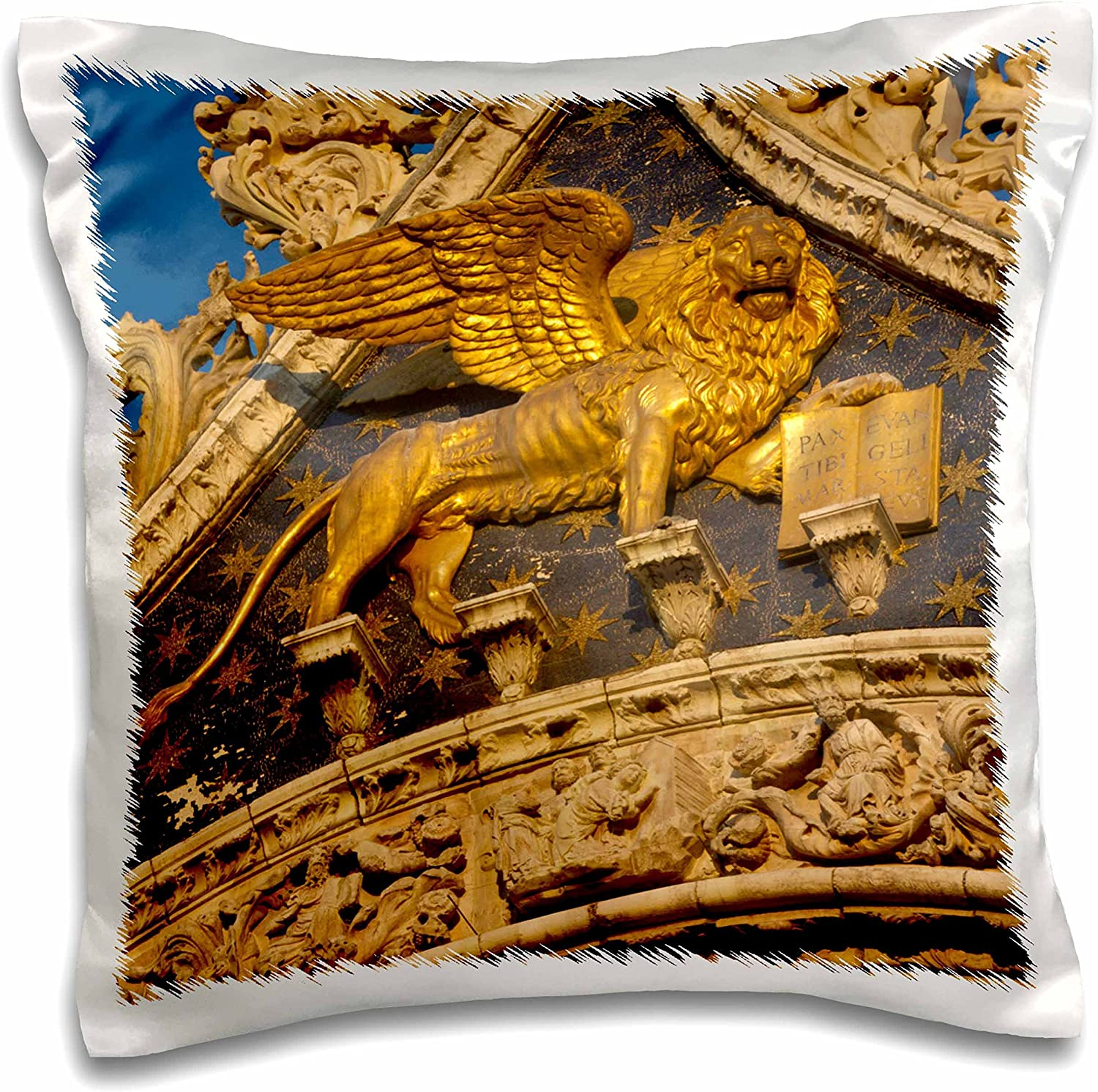Amazon Com 3drose Italy Venice Lion Of San Marco Basilica Eu16 Bjy0006 Jaynes Gallery Pillow Case 16 By 16 Pc 137726 1 Arts Crafts Sewing