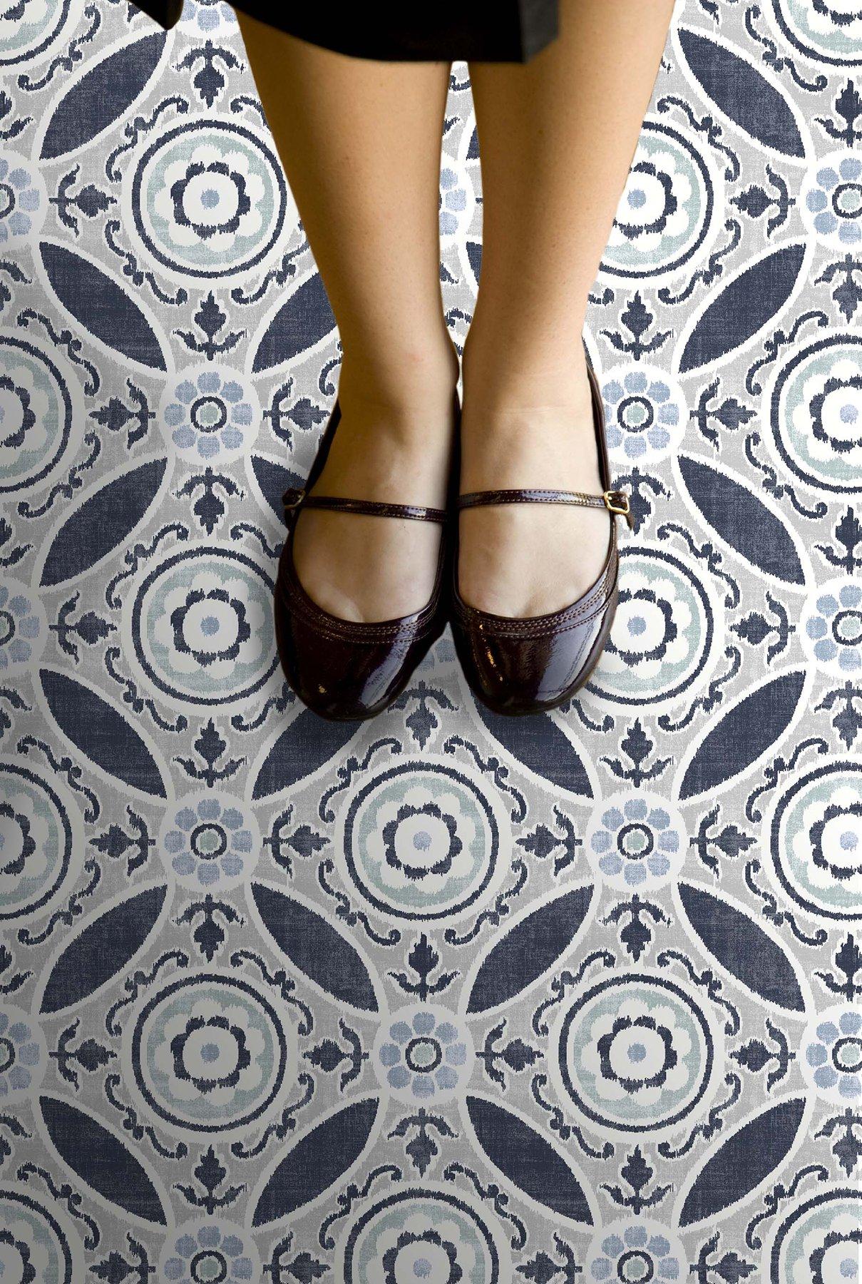 FloorPops FP2484 Sienna Peel & Stick Tiles Floor Decal, Blue by FloorPops (Image #2)