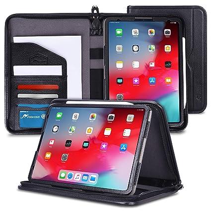 differently ffd26 ab440 rooCASE iPad Pro 11 Case 2018, Premium Executive Portfolio Leather Case,  Detachable Sleeve, Document Organizer for Apple iPad Pro 11-inch 2018 3rd  ...