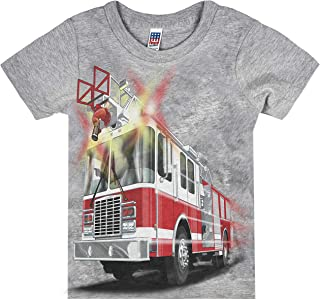 product image for Shirts That Go Little Boys' Fire Truck T-Shirt