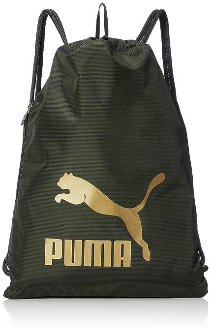 Amazon.com   Puma Originals Gym Sack Gymnastic Gym Bag Forest Night ... 807afe8ebce8a