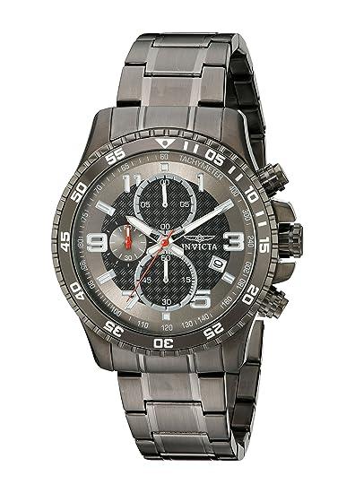 Invicta 14879 Specialty Reloj para Hombre acero inoxidable Cuarzo Esfera negro: Invicta: Amazon.es: Relojes