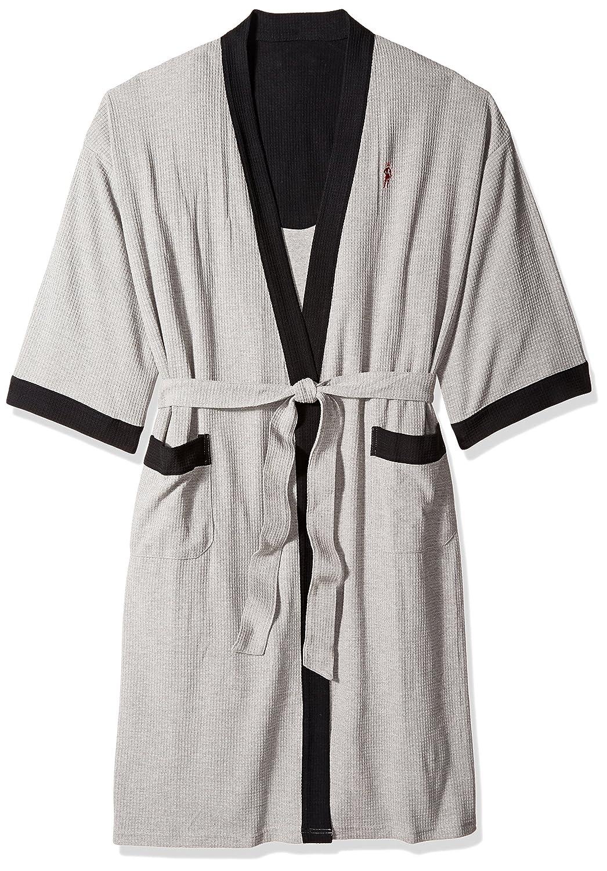 Jockey Men's Waffle-Weave Kimono Robe Jockey Men's Sleepwear 2312100JY
