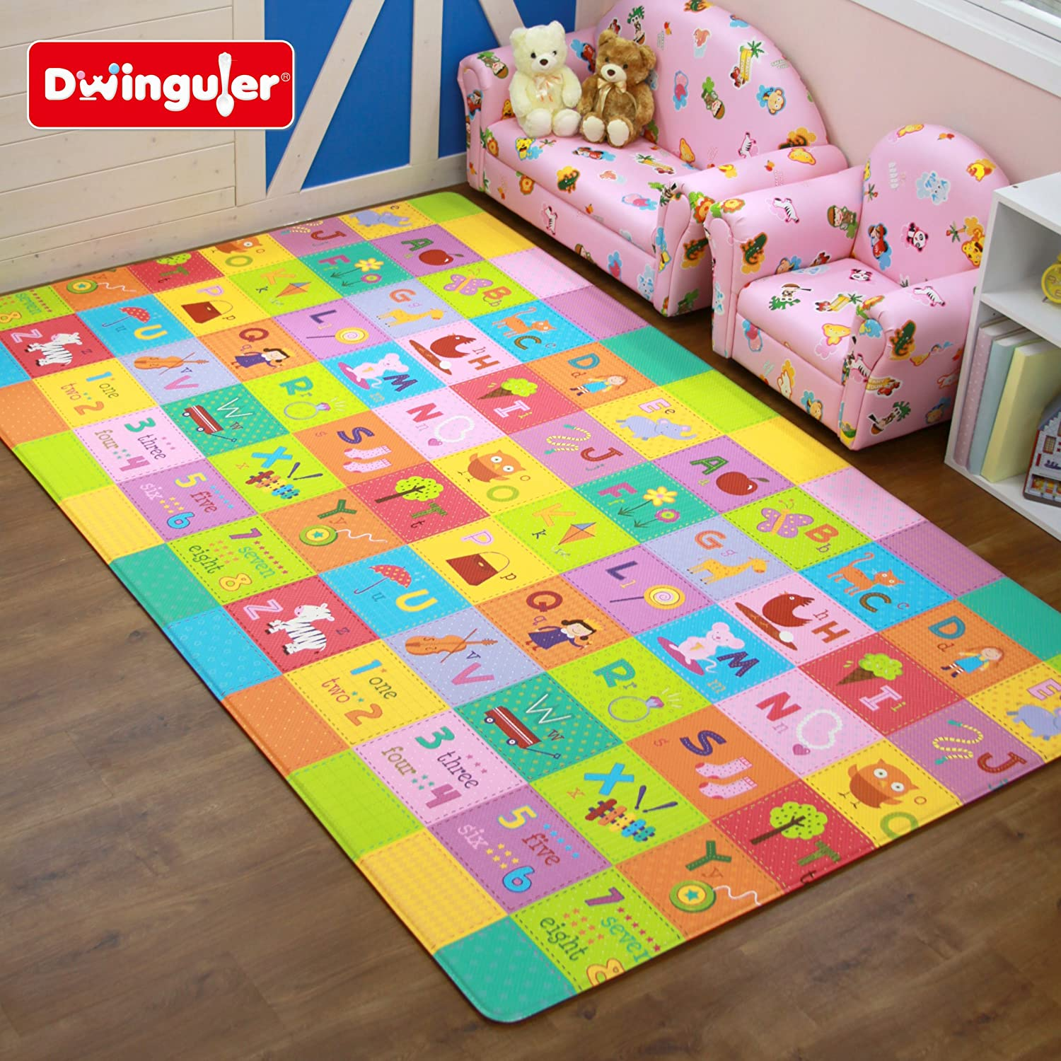 Amazon Dwinguler Eco friendly Kids Play Mat Flower Garden