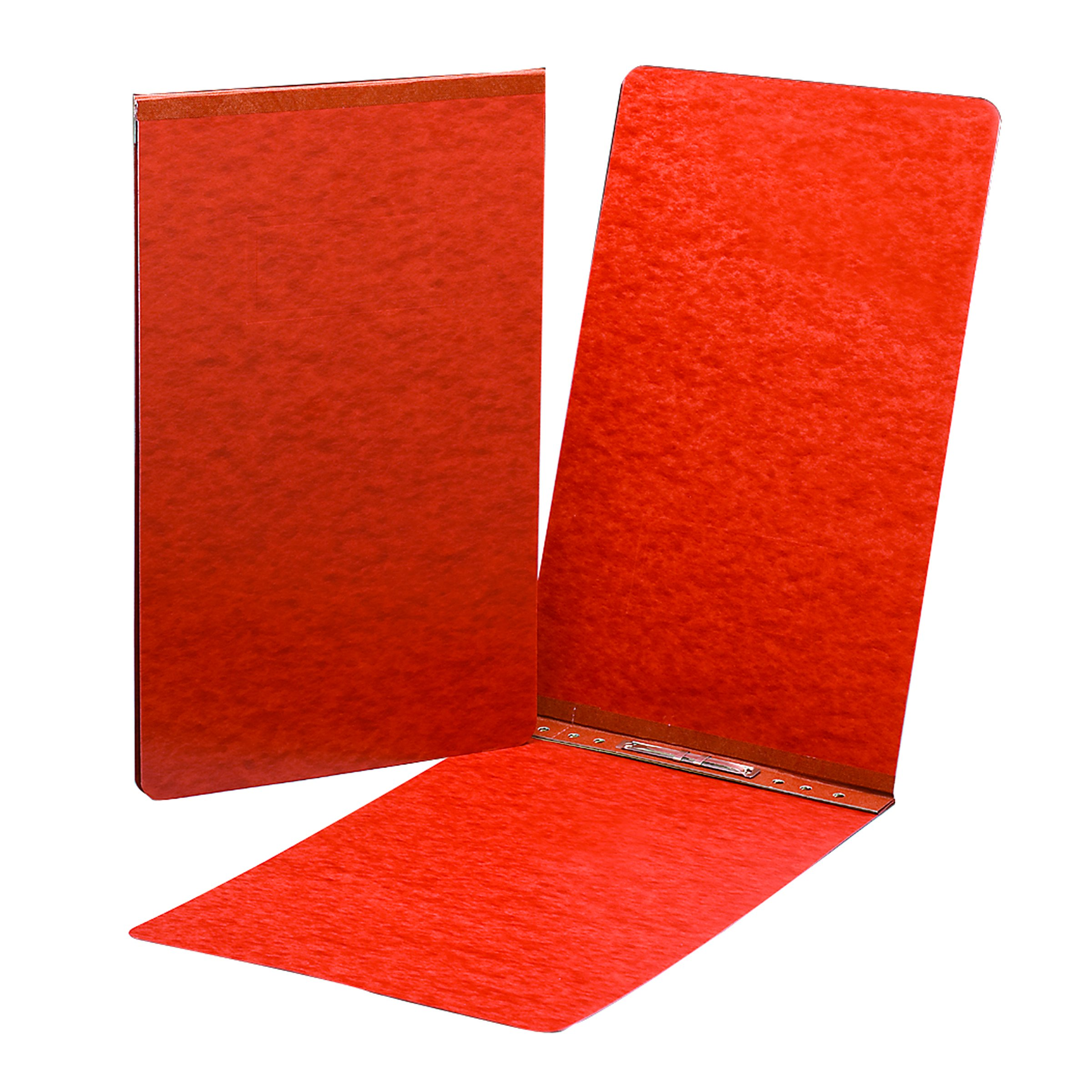 Smead PressGuard Binder Cover, Metal Prong with Compressor, Top Fastener, 350 Sheets/3'' Capacity, 11'' x 17'', Red, 10 per Box (81778)