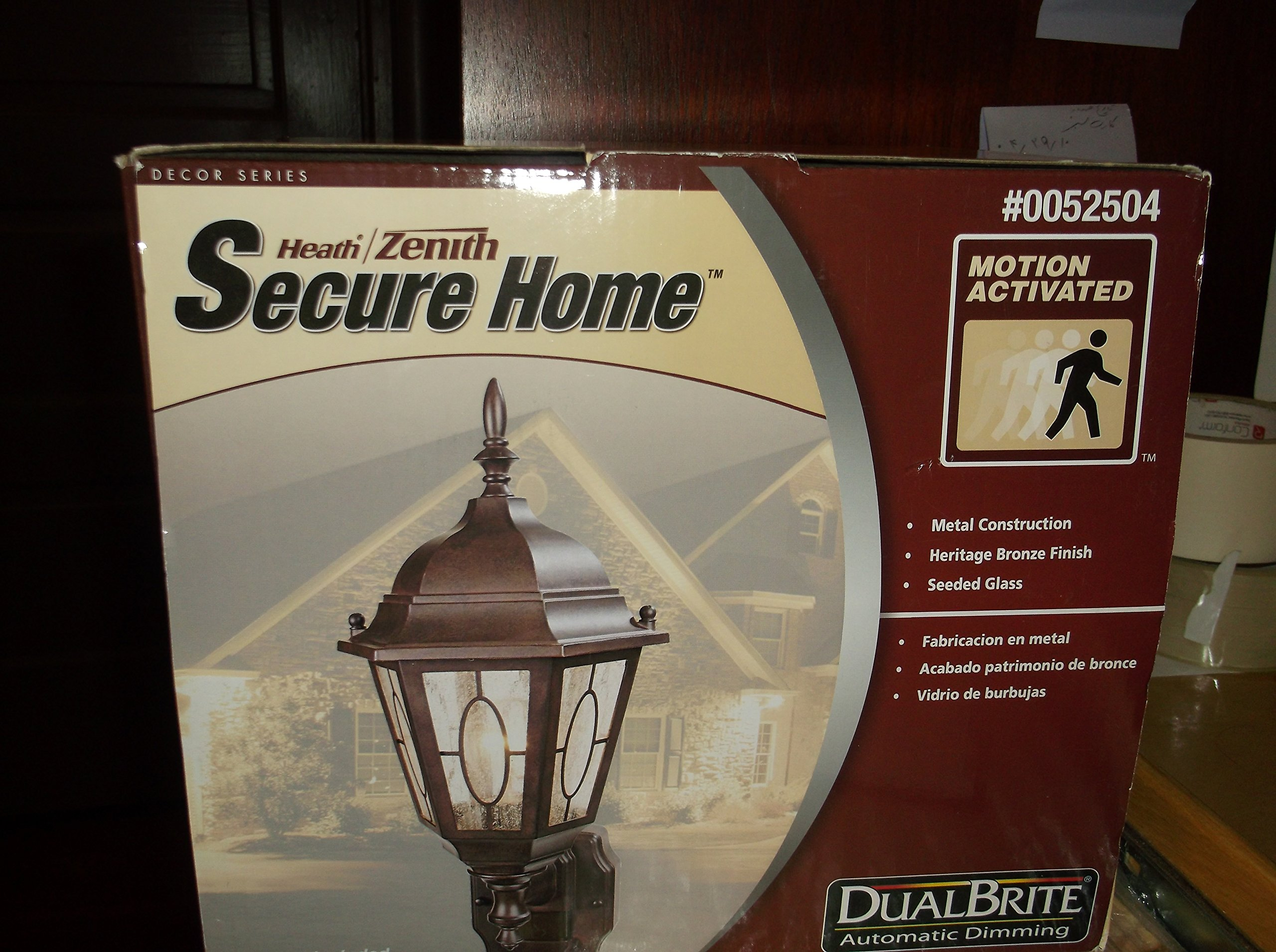Health Zenith Secure Home Motion Activated Wall Lantern Item#52504 Upc016963439306