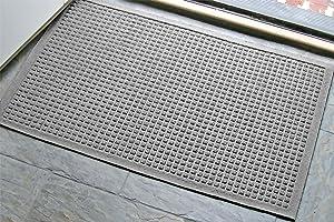 WaterHog Fashion Commercial-Grade Entrance Mat, Indoor/Outdoor Charcoal Floor Mat3' Length x 2' Width, Medium Grey by M+A Matting - 280-157-3F2F
