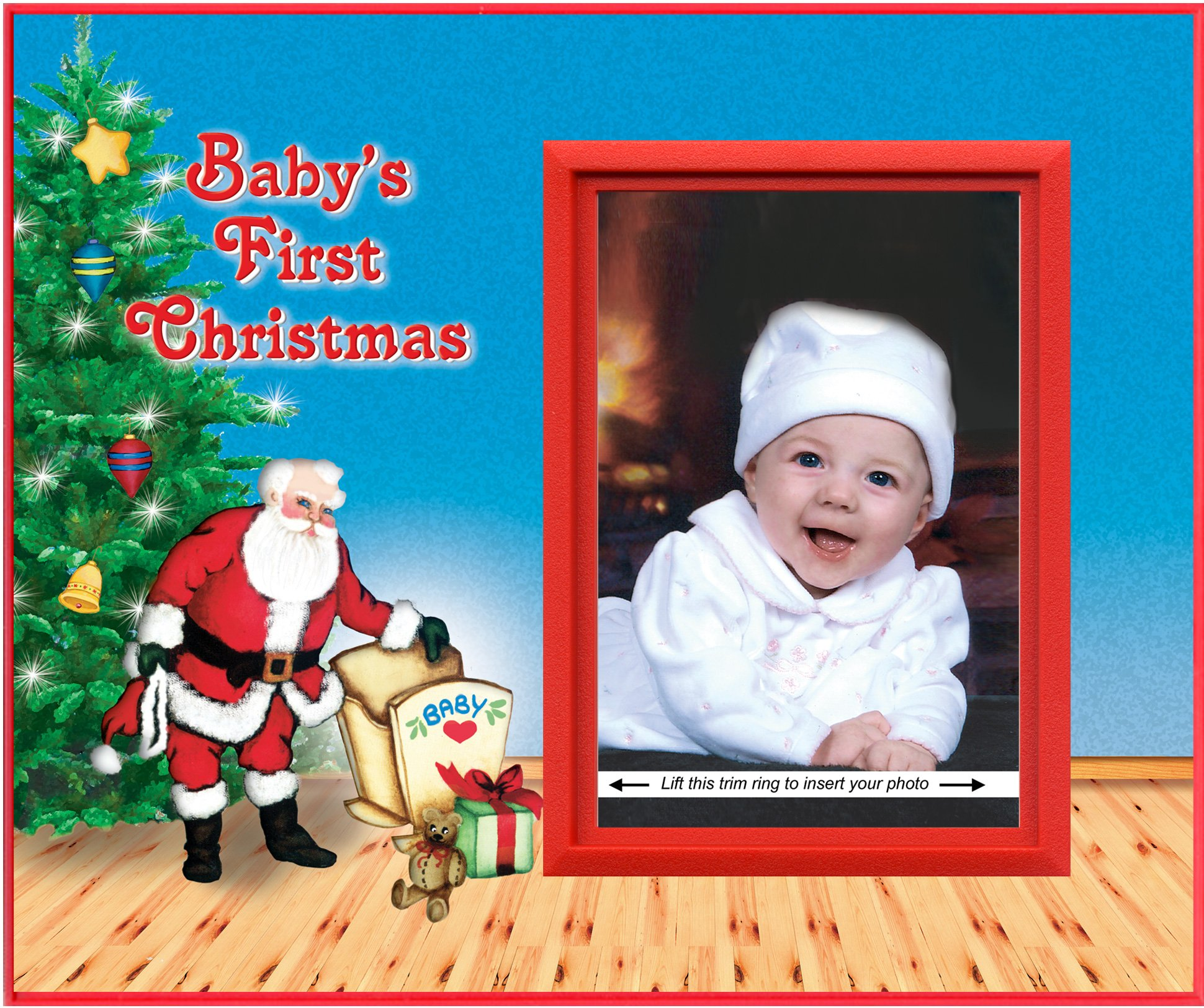 Amazon Com Baby S First Christmas Picture Frame Gift