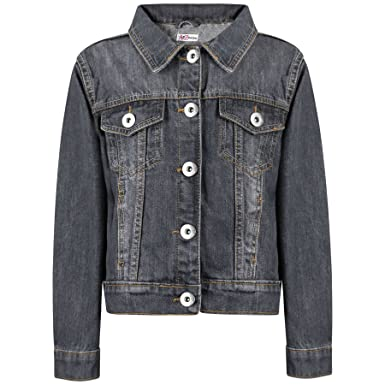 Amazon Com Kids Girls Jackets Designer Denim Style Fashion Black