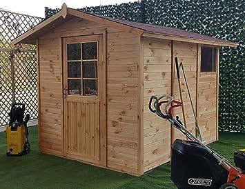 Caseta de jardín Almacenamiento para Herramientas de pino maciza SP. 19 mm | Mod. C244/3: Amazon.es: Jardín