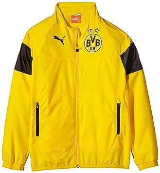 621ca0d4da04 Puma Children s Jacket BVB Leisure Jacket Yellow Cyber Yellow-Black-Ebony  Size 15
