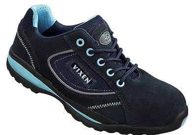 Vixen VX700 Pearl S1P Damen Dark Blue ESD Composite Zehenkappe Schuhe Sicherheit Sportschuhe Schutzbekleidung