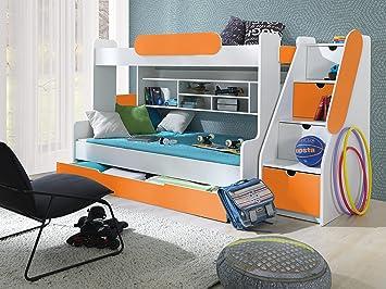 Kinder Etagenbett Camping : Furnistad etagenbett luna kinder stockbett mit treppe und