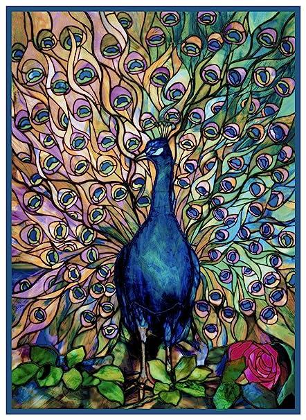 Louis Comfort Tiffany.Orenco Originals Peacocks Glory By Louis Comfort Tiffany Counted Cross Stitch Pattern
