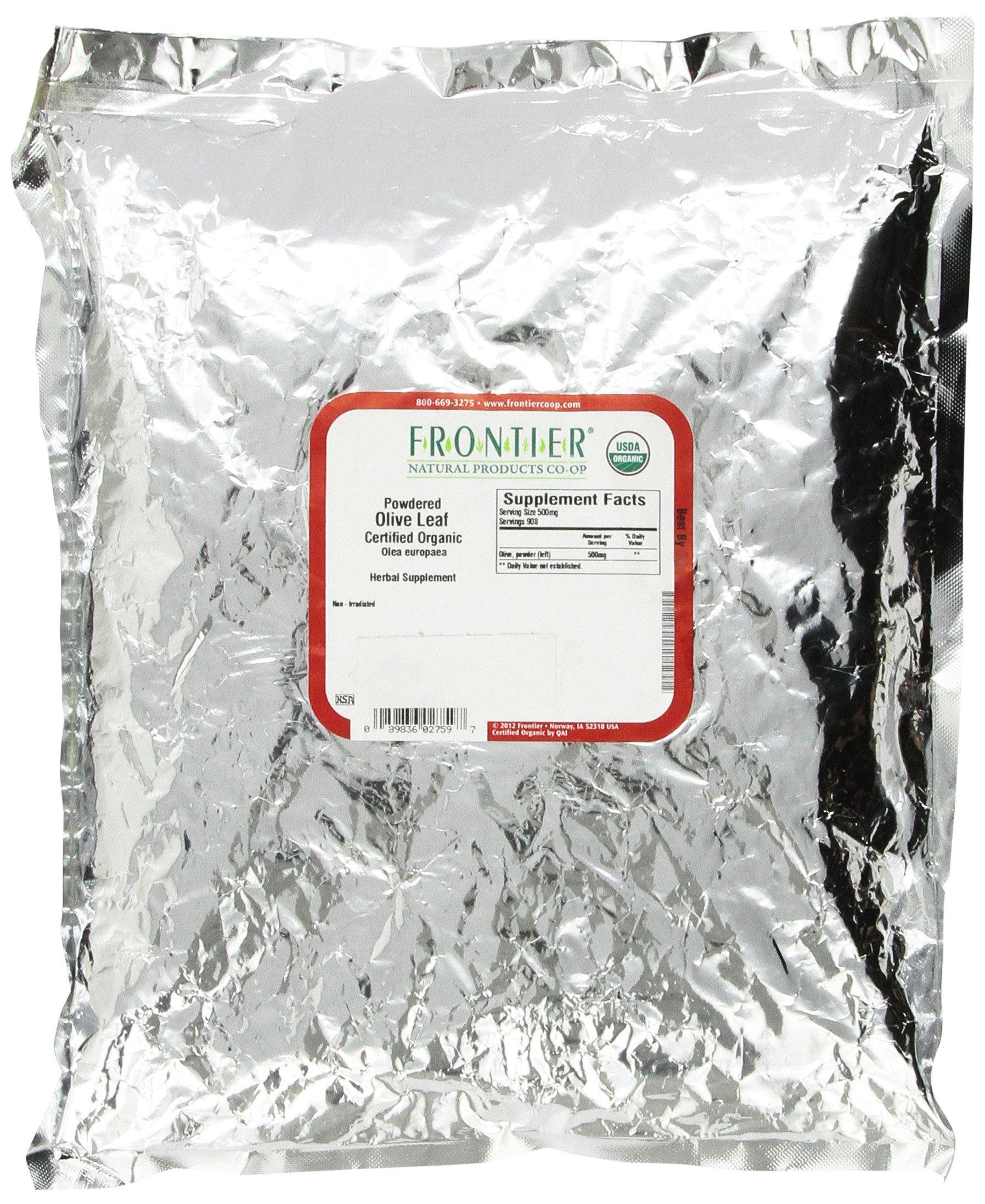 Frontier Natural Products 2759 Frontier Bulk Olive Leaf Powder - Organic44; 1 Lbs.