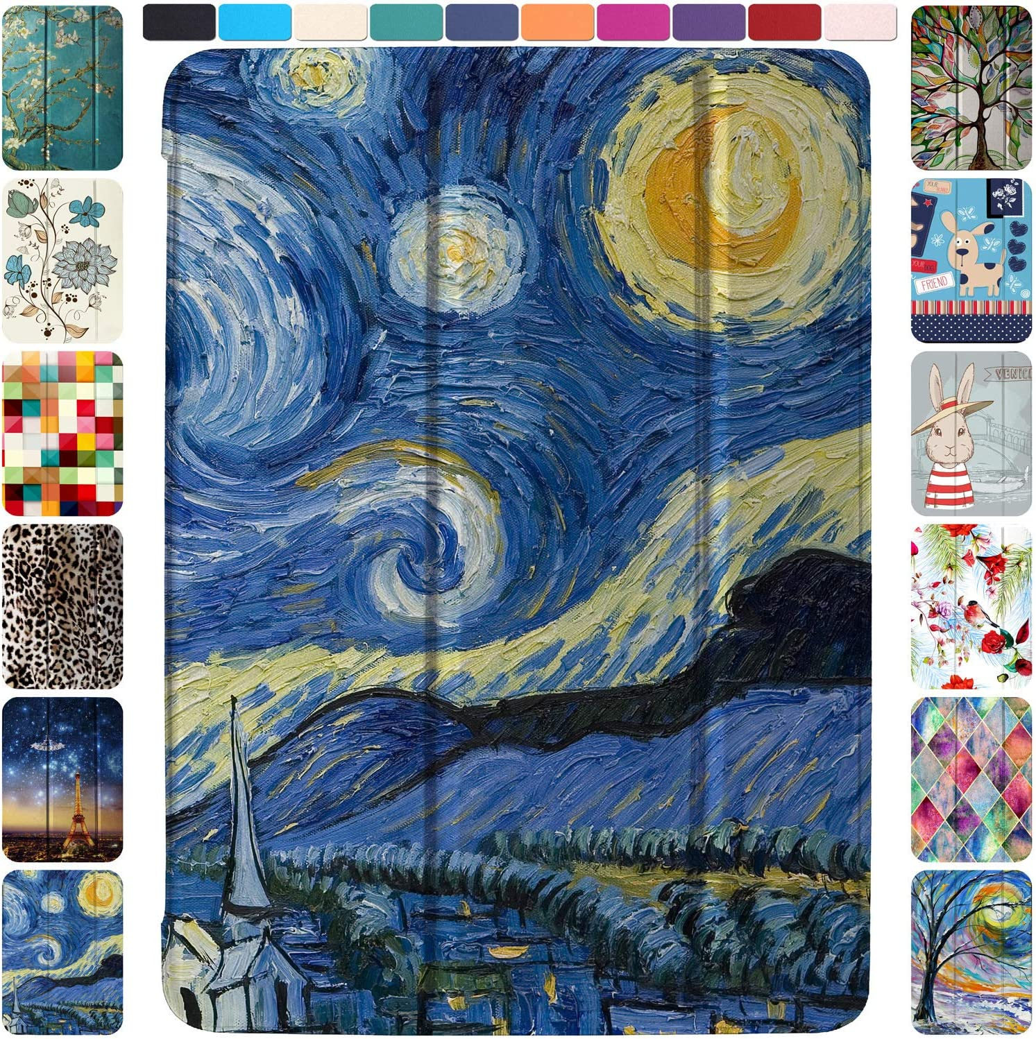 DuraSafe Cases for iPad PRO 11 2020 MY232LL/A MXDC2LL/A MXDE2LL/A MXDG2LL/A MY252LL/A MXDD2LL/A MXDF2LL/A MXDH2LL/A Ultra Slim Supportive Classic Case with Adjustable Stand Feature - Starry Night