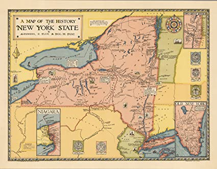 A Map Of New York State.Amazon Com A Map Of The History Of New York State By Alexander C