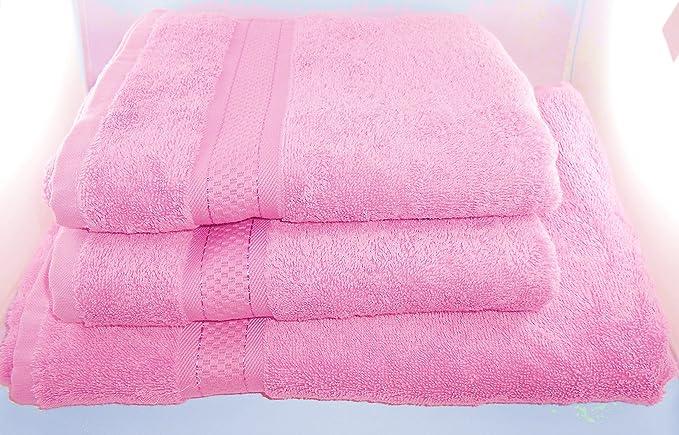 Silke Premium - Toalla de rizo, 500 g, 70 x 140 cm, con nombre bordado, color rosa: Amazon.es: Deportes y aire libre