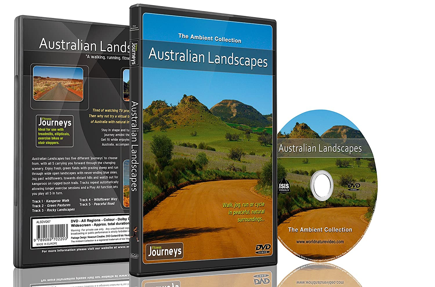 Fitness Journeys - Australian Landscapes , for indoor walking, treadmill and cycling workouts The Ambient Collection Tony Helsloot Naturedvdca Nonfiction - Nature - Fitness