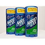 Arrid XX Ultra Fresh, Extra Extra Dry, Solid Antiperspirant Deodorant, 2.6 Oz. (Pack of 3)