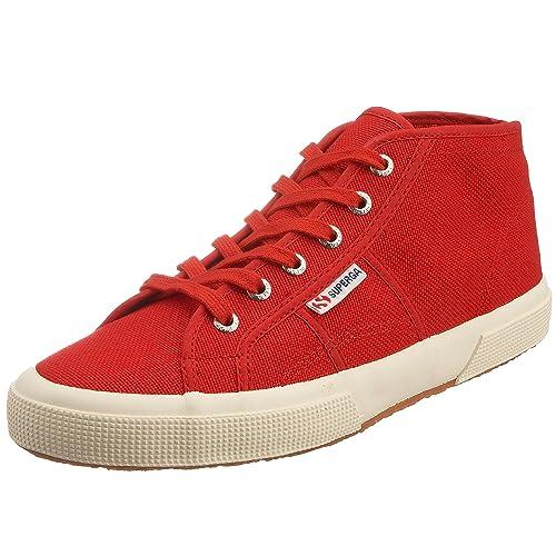 Superga Cotu Classic 2754 Sneakers Alta Uomo Donna Rosso