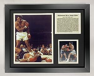 Muhammad Ali vs. Liston Championship Fight Collectible | Framed Photo Collage Wall Art Decor - 12