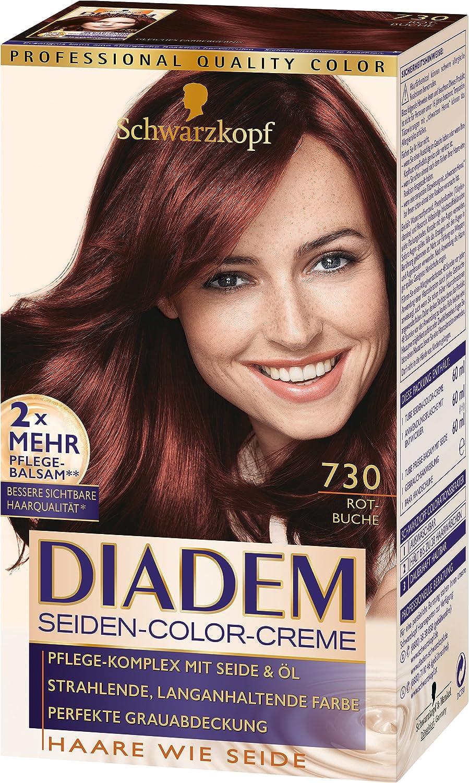 Schwarzkopf Diadem Seiden-Color-Creme, 730 Rotbuche Stufe 3, 3er Pack (3 x 180 ml) DC730